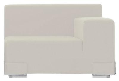 Mobilier - Canapés - Canapé modulable Plastics / Module accoudoir gauche - L 90 cm - Kartell - Blanc - Polycarbonate, Polyuréthane