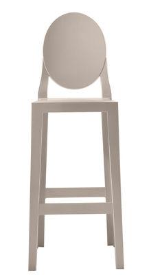 Chaise de bar One more / H 65cm - Plastique - Kartell sable en matière plastique