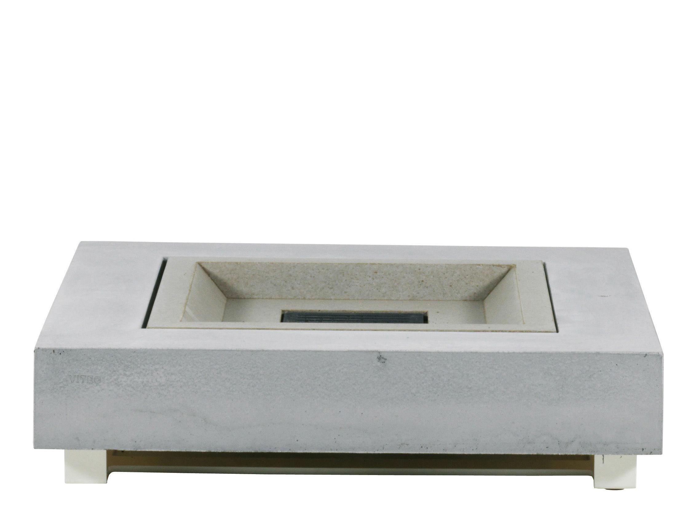 Outdoor Küche Viteo : Pure couchtisch feuertisch beton 90 x 90 cm lounge feuertisch
