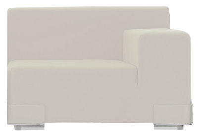 Arredamento - Divani moderni - Divano modulabile Plastics - Bracciolo sinistro di Kartell - Bianco - policarbonato, Poliuretano