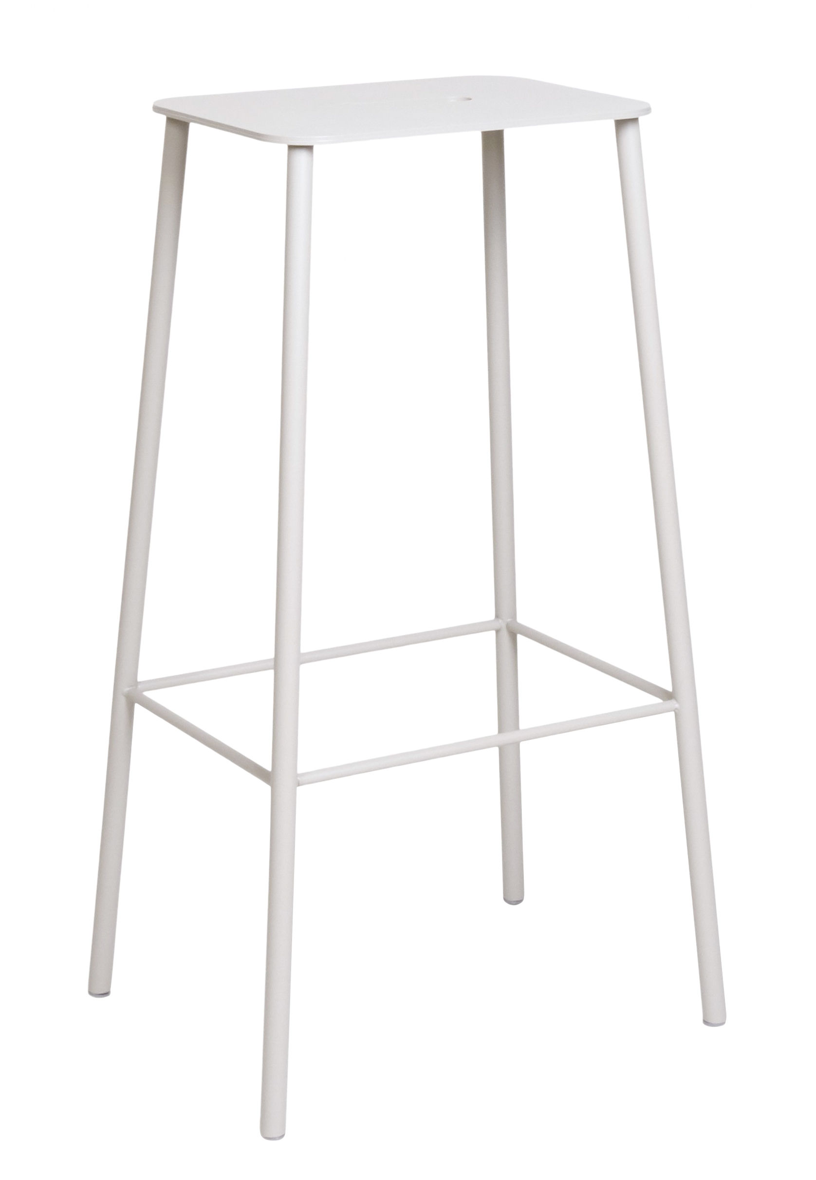 Furniture - Bar Stools - Adam Outdoor High stool - / H 76 cm by Frama  - Grey - Epoxy lacquered steel