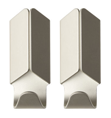 Product selections - Sélection MAISON+ - Volet Hook - Set of 2 by Hay - Beige - Anodized aluminium