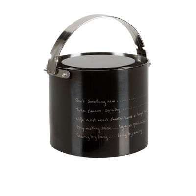 Tableware - Wine Accessories - Statement by Paul Smith Ice bucket - Ice bucket by Stelton - Shiny black - Steel titanium finish
