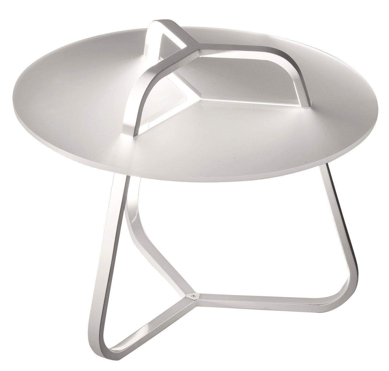 Furniture - Coffee Tables - Toy Illuminated side table - Side table - H 50 cm by Martinelli Luce - White - Aluminium, Methacrylate, Polycarbonate