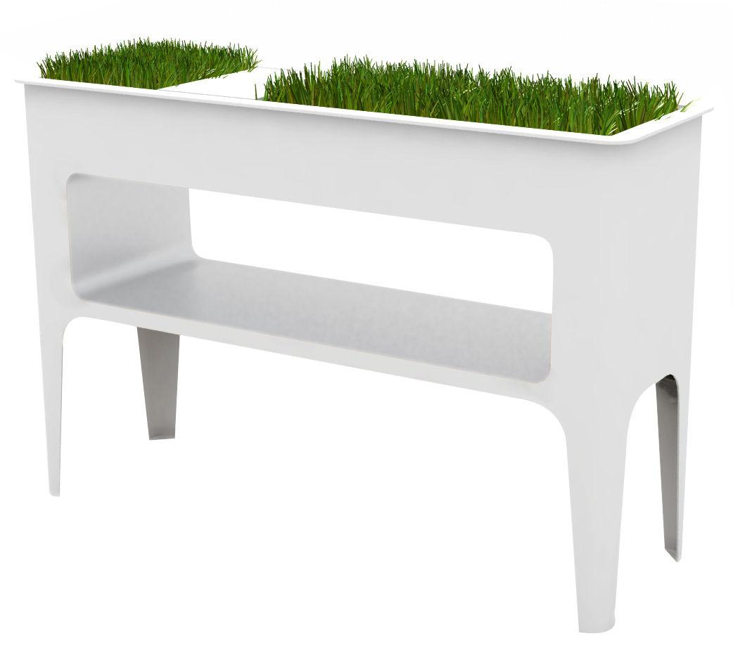 Möbel - Konsole - Babylone Konsole mit integriertem Blumentopf - Compagnie - Weiß - Aluminium, lackierter Stahl