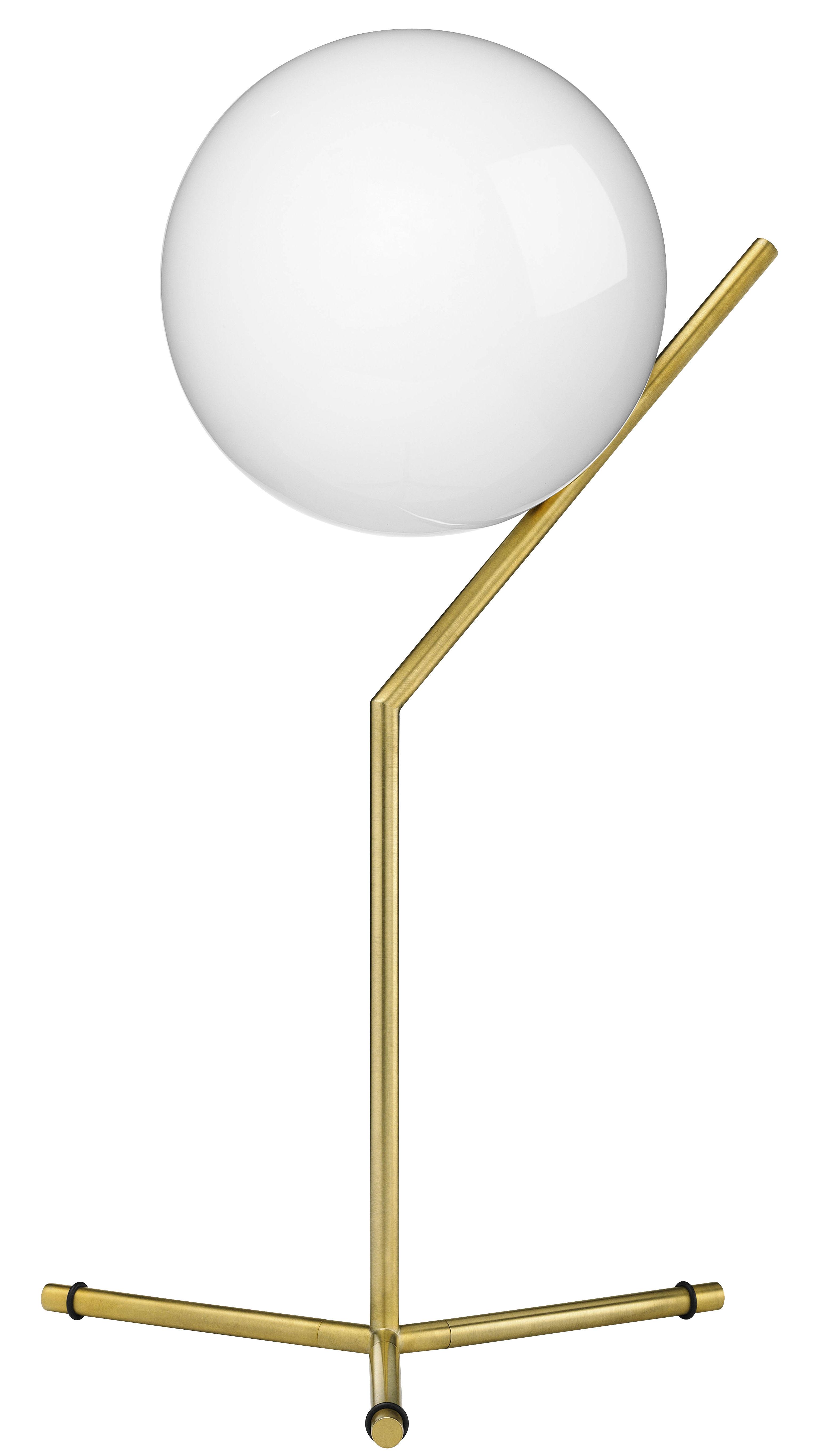 Illuminazione - Lampade da tavolo - Lampada da tavolo IC T1 High - / H 53 cm di Flos - Ottone - Acciaio, vetro soffiato
