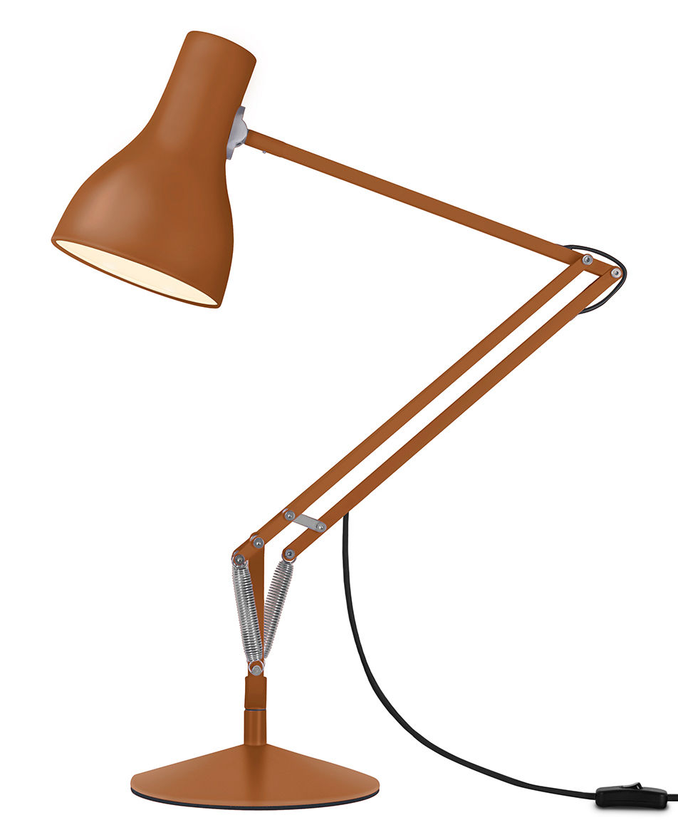 Luminaire - Lampes de table - Lampe de table Type 75 / By Margaret Howell - Anglepoise - Sienne - Acier, Aluminium, Fonte