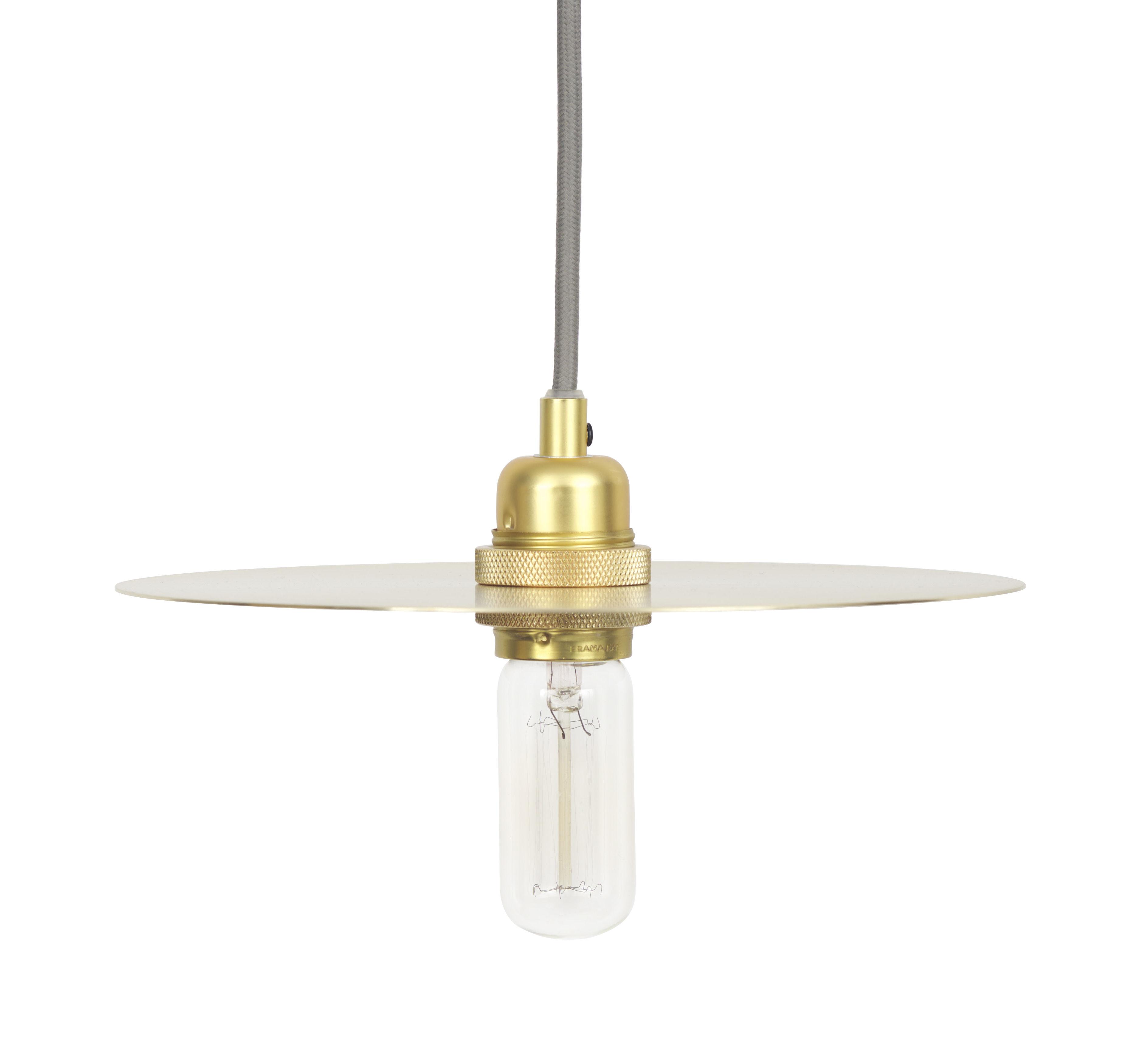 Leuchten - Pendelleuchten - Circle Medium Lampenschirm / Ø 25 cm - Frama  - Medium - Messing - Messing