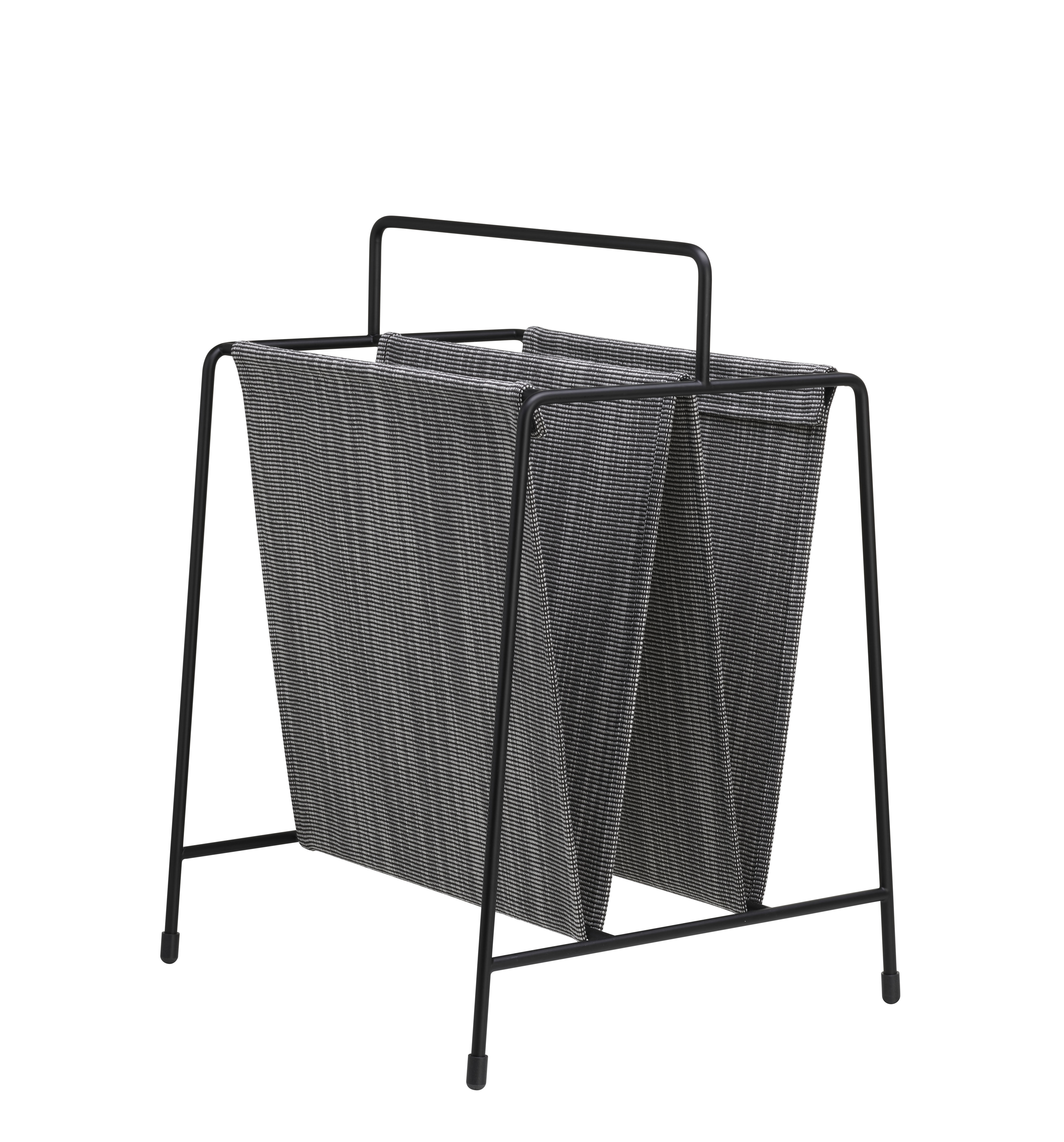 Decoration - Boxes & Baskets - Magazine holder - / 50s reissue - Fabric by Fritz Hansen - Grey & black - Fabric, Powder coated steel