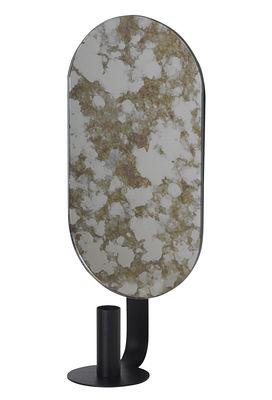 Déco - Bougeoirs, photophores - Miroir mural Coupled Oval / Miroir effet piqué - H 37 cm - Ferm Living - Beige / Ovale - Acier laqué époxy, Verre