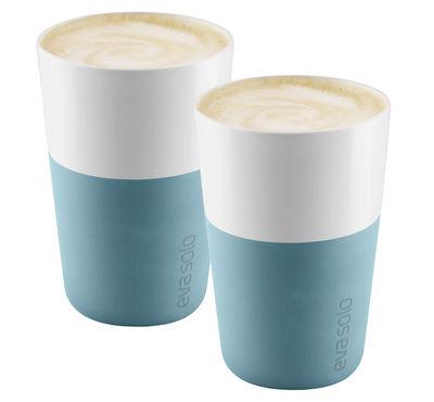 Mug Cafe Latte / Set de 2 - 360 ml - Eva Solo blanc,bleu arctique en céramique