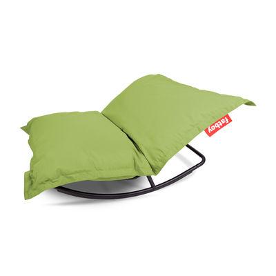 Mobilier - Poufs - Pack promo / Structure  Rock'n roll + Pouf The Original Outdoor - Pour l'extérieur - Fatboy - Citron vert - Métal galvanisé, Micro-billes de polystyrène, Toile acrylique