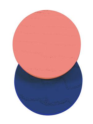 Mobilier - Portemanteaux, patères & portants - Patère Lou /  Ø 7 cm - Hartô - Corail / Bleu réaliste - Hêtre massif
