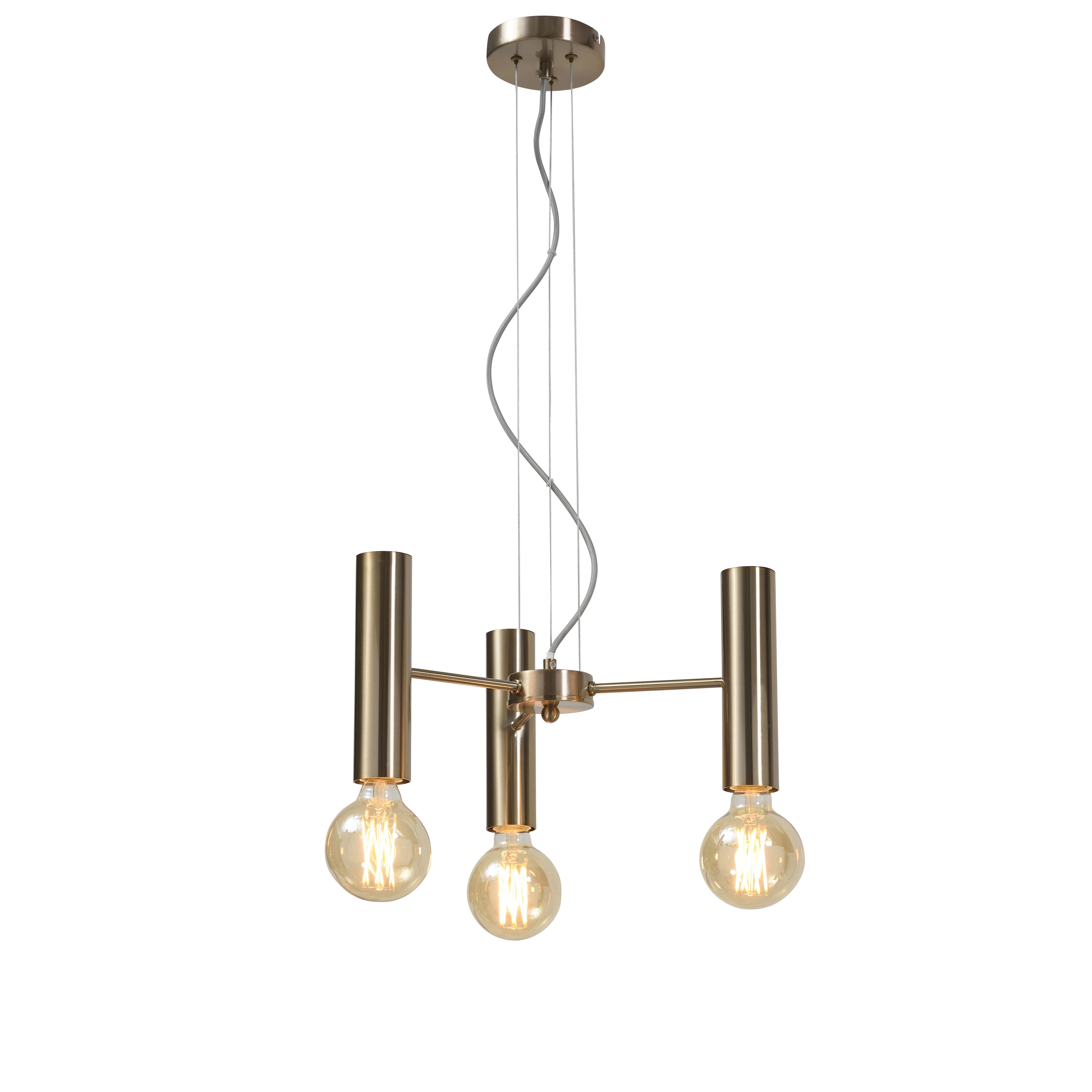Lighting - Pendant Lighting - Cannes Multi Small Pendant - / 3 arms - Metal / Ø 40 cm by It's about Romi - Gold - Iron