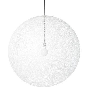 Leuchten - Pendelleuchten - Random Light LED Pendelleuchte LED-Version - Ø 80 cm - Moooi - Weiß - Ø 80 cm - LED - Glasfaser, Résine époxy