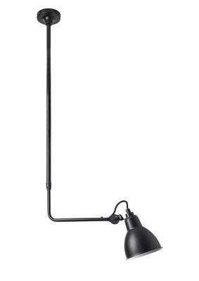 Luminaire - Suspensions - Plafonnier N°313 / Télescopique - L 88 à 154 cm - DCW éditions - Noir - Acier, Fonte d'aluminium