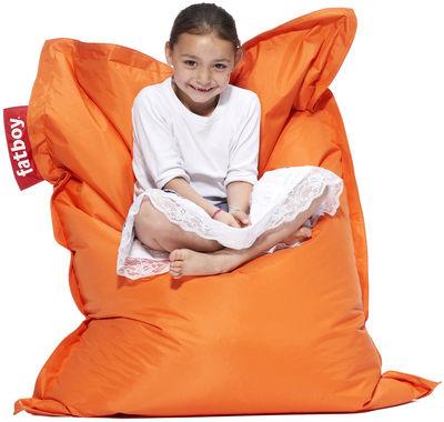Pouf Junior / Pour enfant - Fatboy Larg 100 x L 130 cm orange en tissu