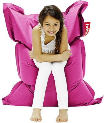 Pouf Junior / Pour enfant - Fatboy Larg 100 x L 130 cm rose en tissu