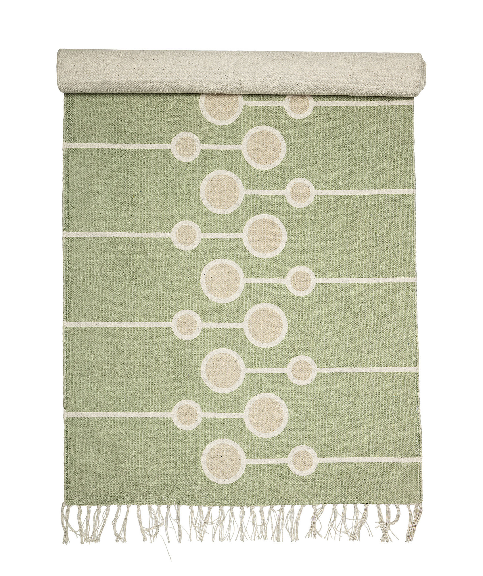 Decoration - Rugs - Rug - / Cotton - 200 x 70 cm by Bloomingville - Green - Cotton