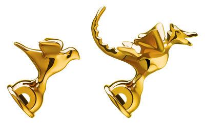 Cucina - Teiere e Bollitori - Set Tea Rex / Set da 2 fischietti in edizione liminatata - Alessi - Ottone metallizzato - Poliammide metallizzata