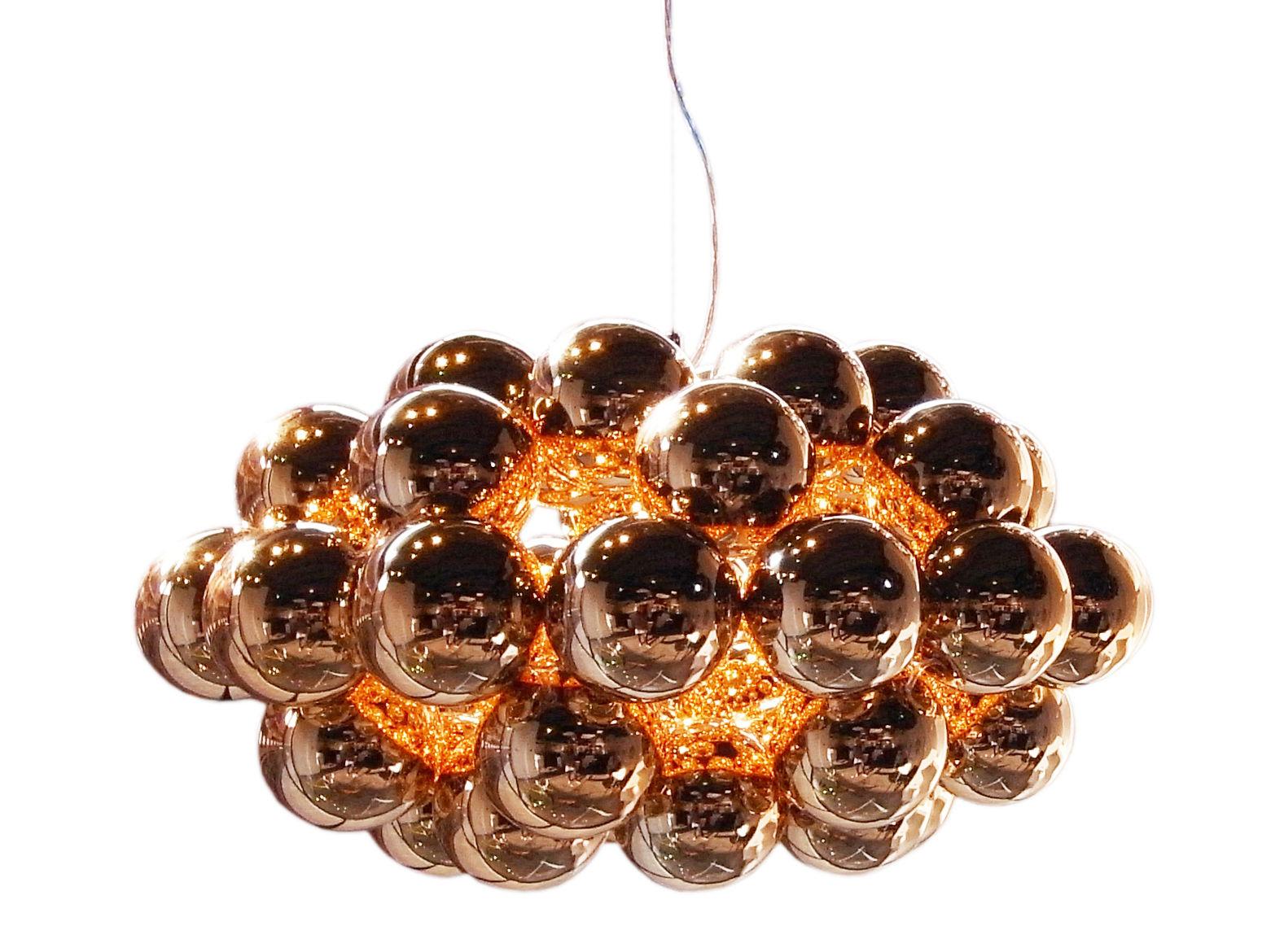 Illuminazione - Lampadari - Sospensione Beads - Octo - Ø 77 cm di Innermost - Cuoio - Acciaio inossidabile, policarbonato