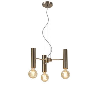 Illuminazione - Lampadari - Sospensione Cannes Multi Small - / 3 braccio - Metallo / Ø 40 cm di It's about Romi - Oro - Ferro