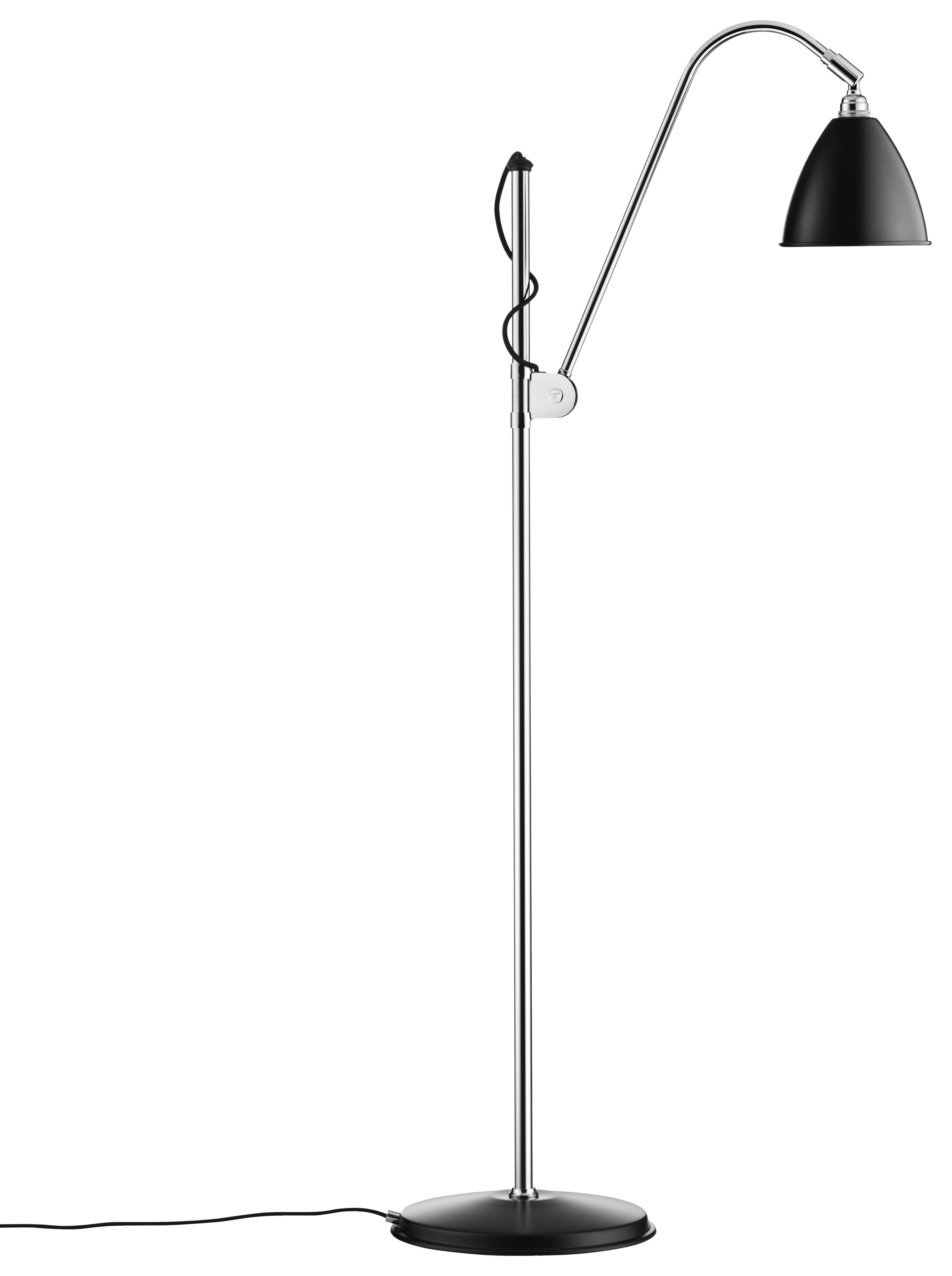 Leuchten - Stehleuchten - Bestlite BL3 Stehleuchte - Neuauflage von 1930 - Gubi - Schwarz - verchromtes Metall