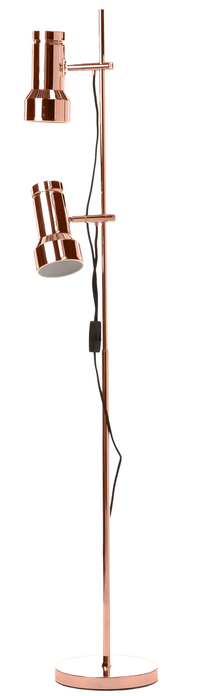 Leuchten - Stehleuchten - Klassik Stehleuchte / Leselampe - Neuauflage des Originals aus dem Jahr 1969 - Frandsen - Kupfer - Métal finition cuivre