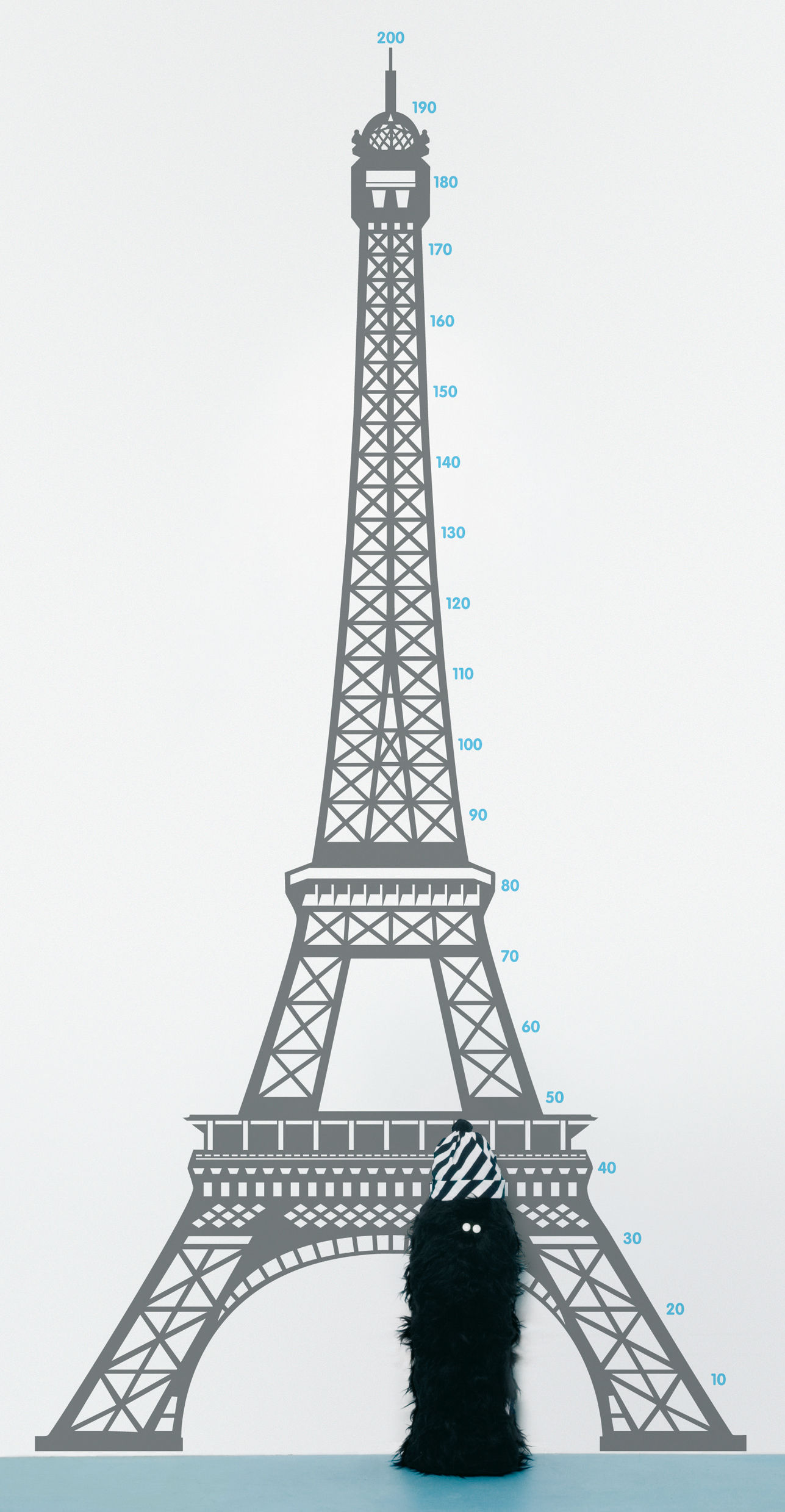 Decoration - Children's Home Accessories - Measuring souvenir from Paris Sticker - Height gauge by Domestic -  - Vinal