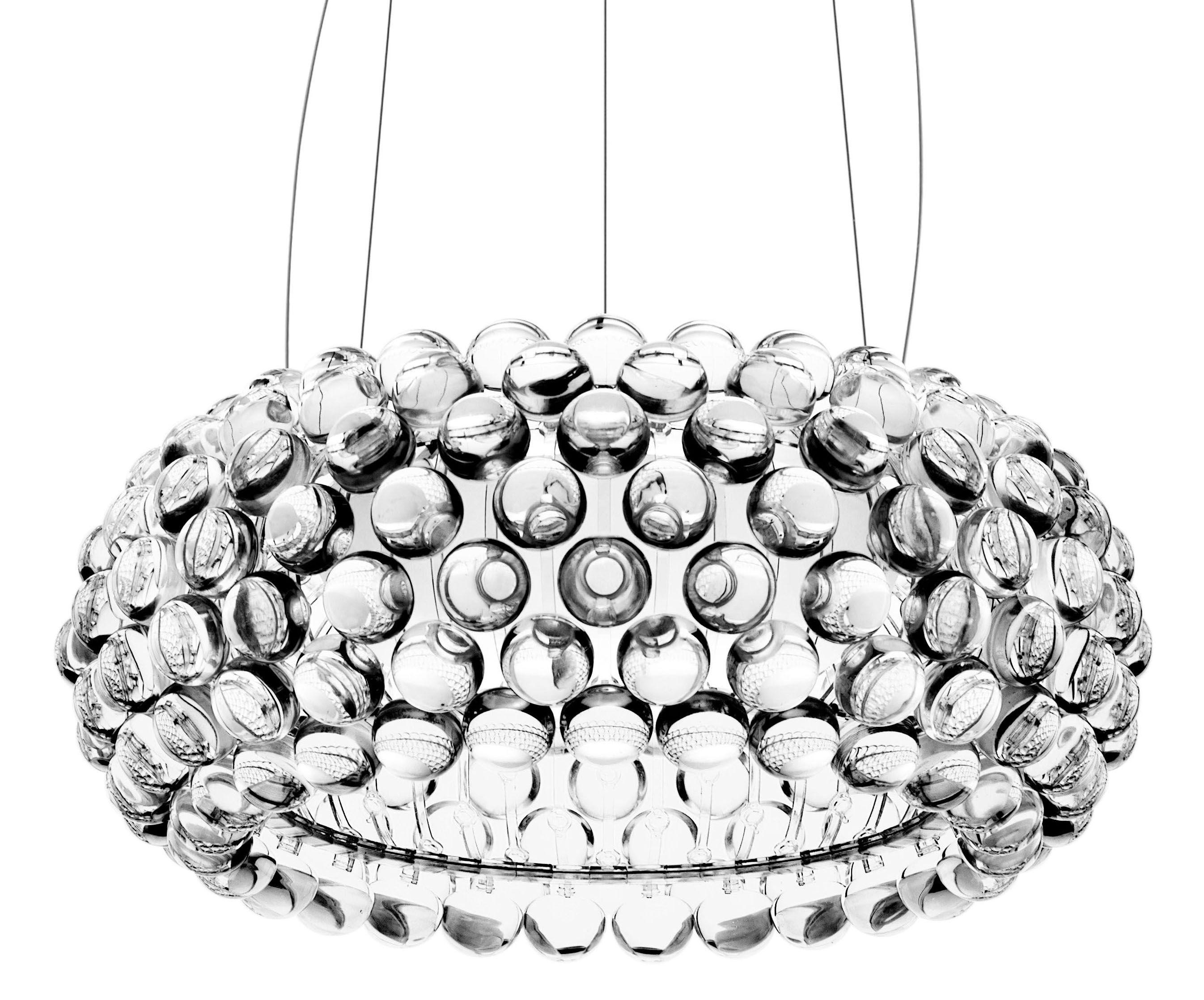 Luminaire - Suspensions - Suspension Caboche Media / Ø 50 cm - Foscarini - Transparent - PMMA