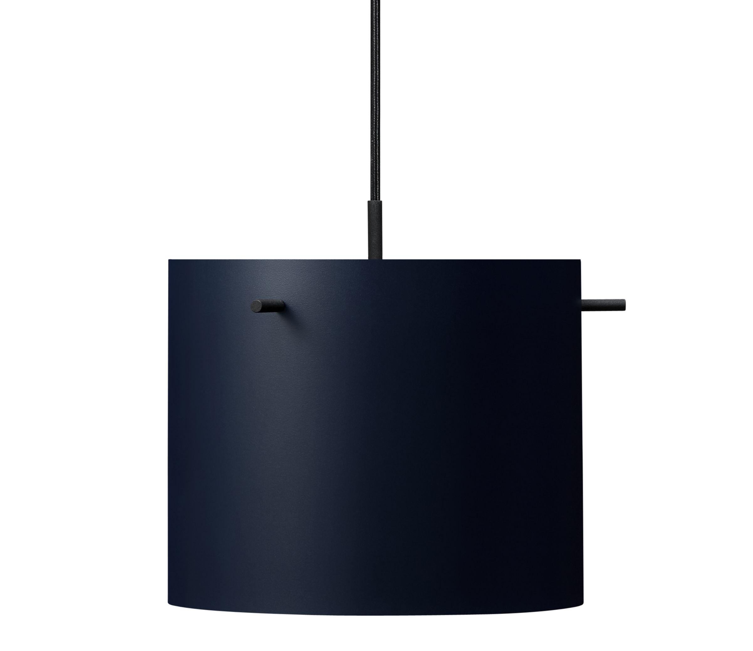 Luminaire - Suspensions - Suspension FM 1954 / Medium - Ø 28 x H 23 cm - Rewired - Bleu - Acier laqué époxy