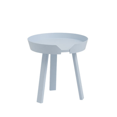 Table basse Around Small / Ø 45 x H 46 cm - Muuto bleu en bois