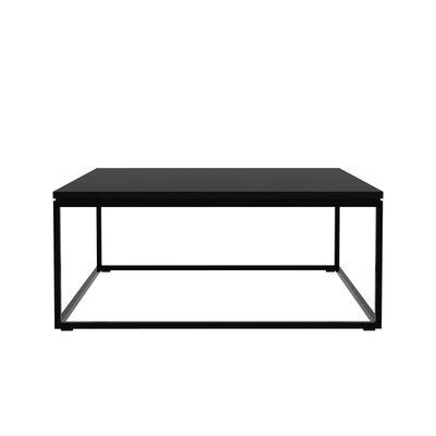 Table basse Thin / Chêne massif & métal - 70 x 70 cm - Ethnicraft noir en bois
