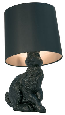 Lighting - Table Lamps - Rabbit lamp Table lamp by Moooi - Black - Cotton, Polyester