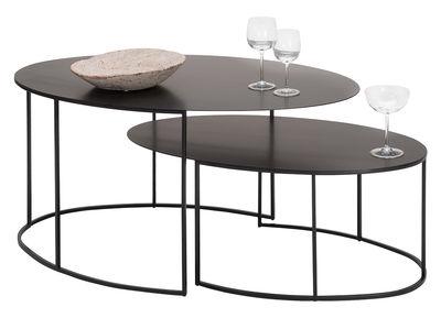 30a2217fe9c5c2 Mobilier - Mange-debout et bars - Tables gigognes Slim Irony Ovales   Set  de ...