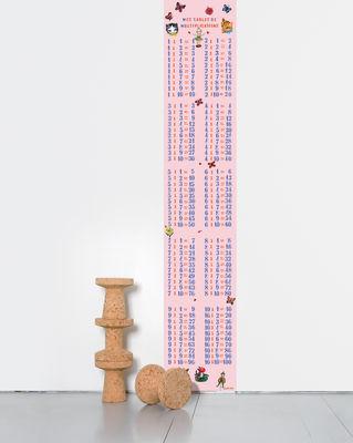 Dekoration - Für Kinder - Multiplications filles Tapete / 1 Bahn - Domestic - Einmaleins / rosa (für Mädchen) - imprägniertes Papier