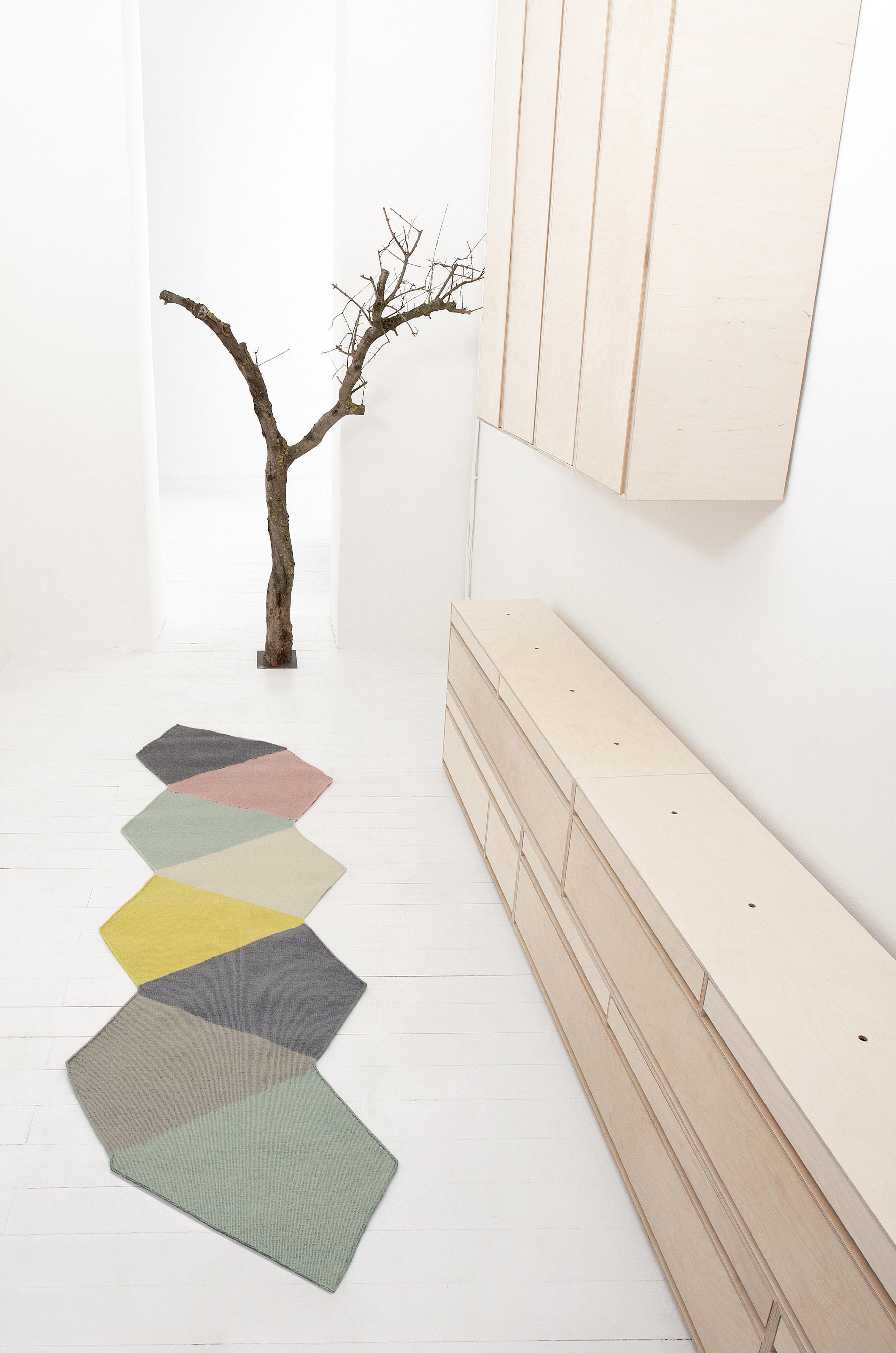 tapis crux 395 x 130 cm exclusivit web multicolore kinnasand made in design - Tapis De Couloir
