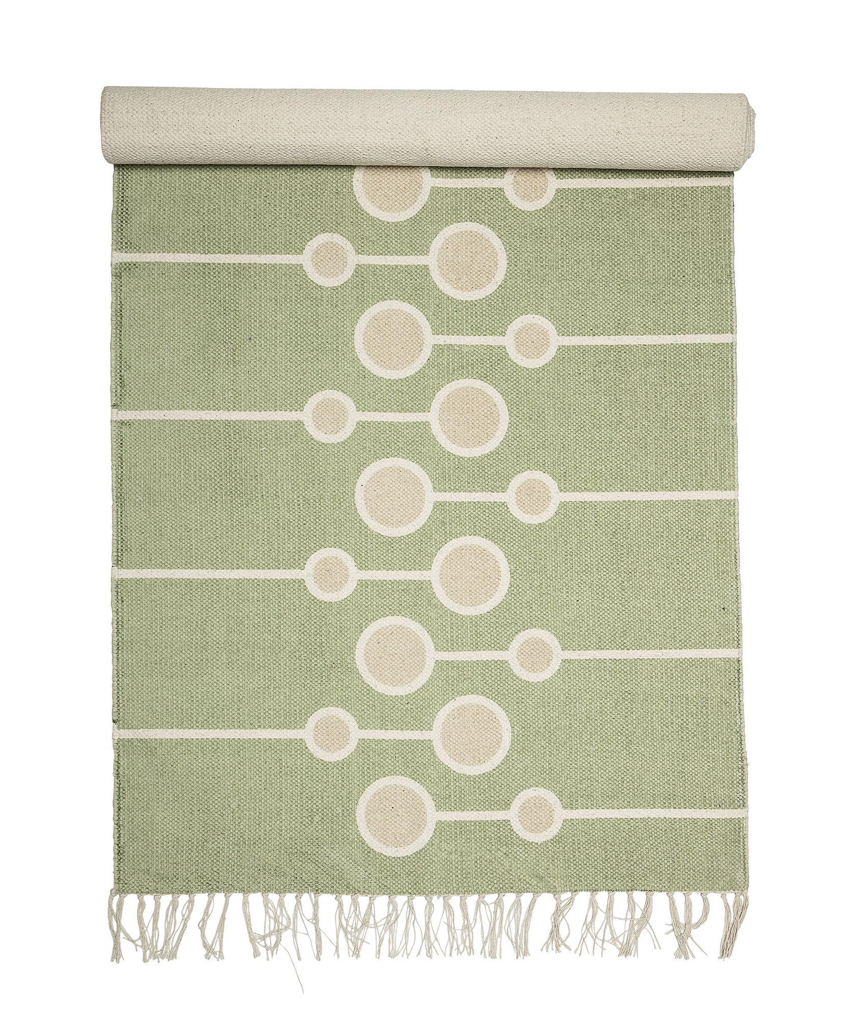 Déco - Tapis - Tapis / Coton - 200 x 70 cm - Bloomingville - Vert - Coton