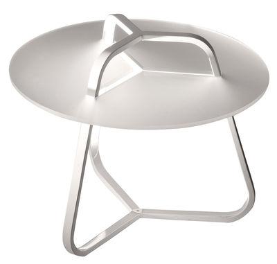 Arredamento - Tavolini  - Tavolino luminoso Toy - /Tavolino - H 50 cm di Martinelli Luce - Bianco - Alluminio, Metacrilato, policarbonato
