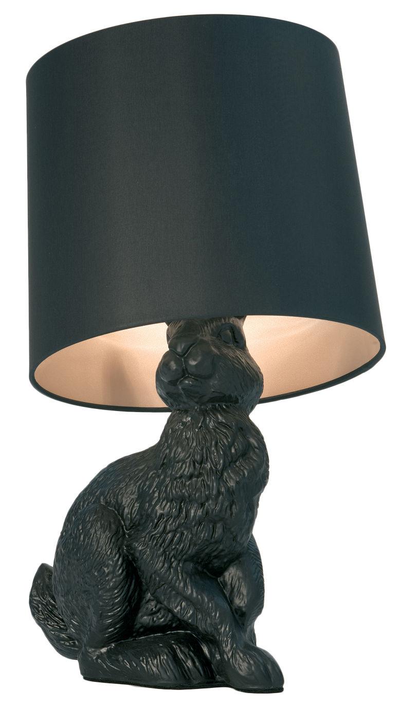 Leuchten - Tischleuchten - Rabbit lamp Tischleuchte - Moooi - Schwarz - Baumwolle, Polyesterfaser