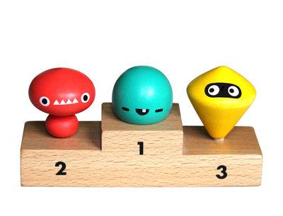 Interni - Per bambini - Trottola Kreisel Olympiade - / Set da 3 su podio di Pa Design - Mostri - Faggio