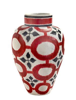 Déco - Vases - Vase Milieux de vos tables / Papier peint main - Serax - Rouge / Noir / Blanc - Papier mâché peint à la main