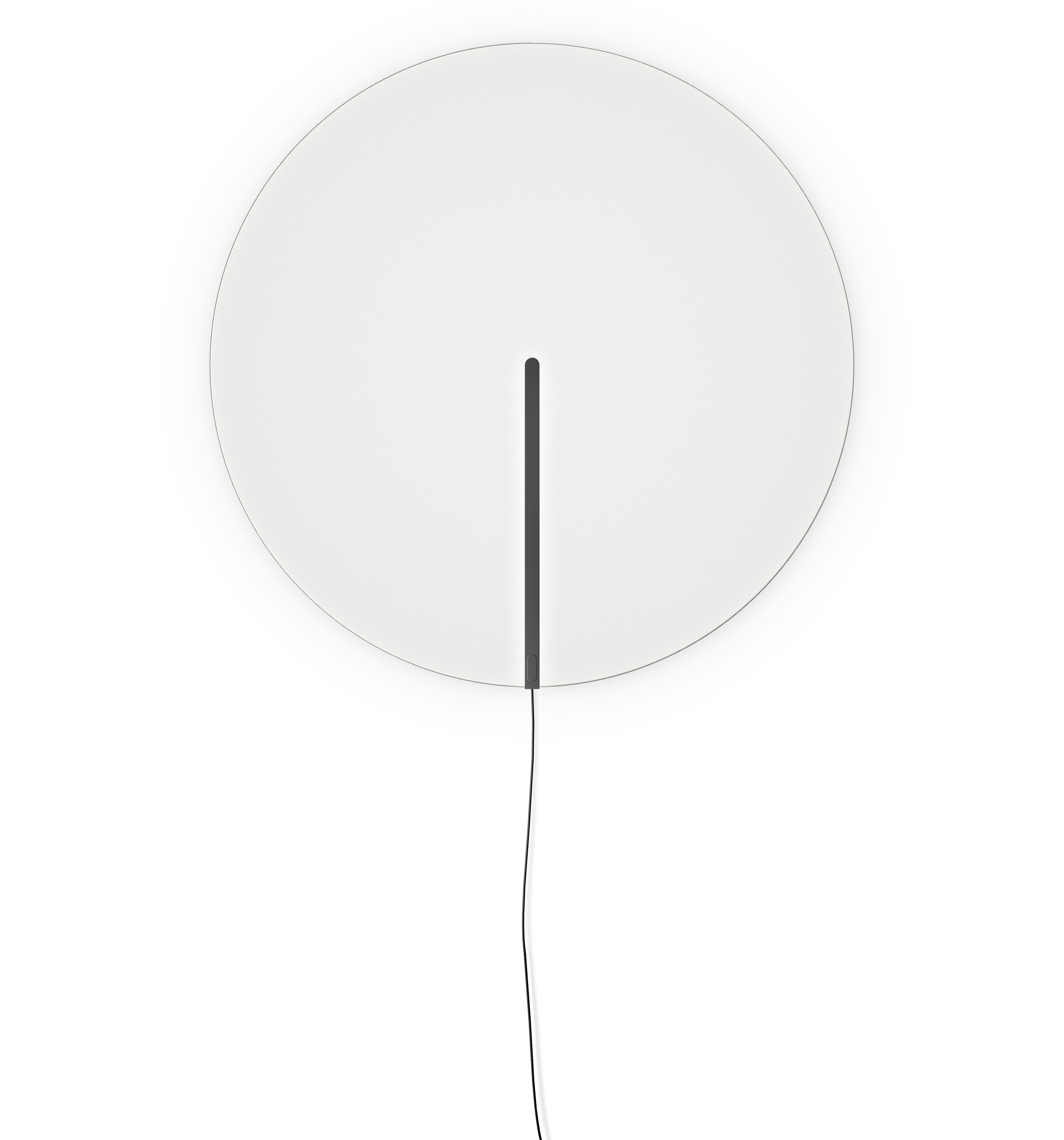 Lighting - Wall Lights - Guise Wall light - / Ø 54 cm by Vibia - Matte graphite lacquer - Aluminium, Borosilicated glass
