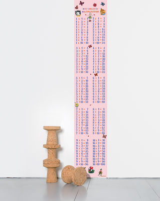 Decoration - Children's Home Accessories - Multiplications filles Wallpaper - One strip by Domestic - Multicoulered - Intisse paper
