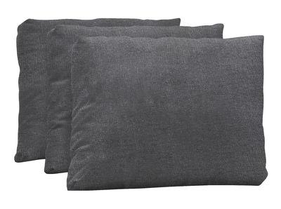 Accessoire canapé / Coussin dossier pour bain de soleil Australis - Lot de 3 - Extremis gris carbone en tissu