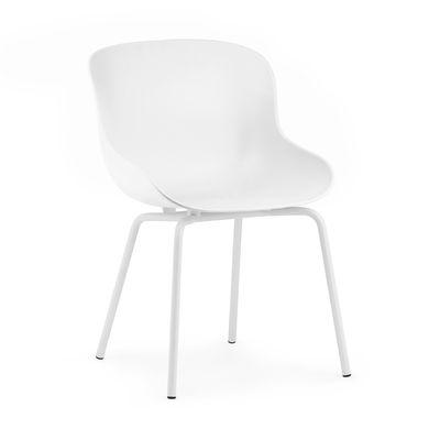 Furniture - Chairs - Hyg Steel Armchair - / Polypropylene by Normann Copenhagen - White - Polypropylene, Steel