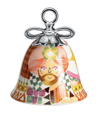 Boule de Noël Holy Family / Cloche Gaspard - Porcelaine peinte main - Alessi multicolore en céramique