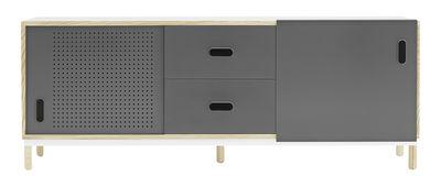Buffet Kabino / Meuble TV - L 162 cm - Tiroirs - Normann Copenhagen gris/bois naturel en métal/bois