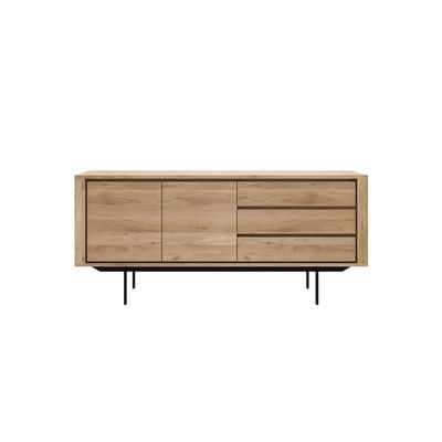Buffet Shadow / Chêne massif - L 180 cm / 2 portes & 3 tiroirs - Ethnicraft bois naturel en bois