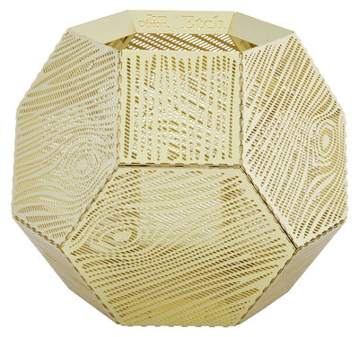 Decoration - Candles & Candle Holders - Etch Candle holder by Tom Dixon - Brass - Anodized aluminium